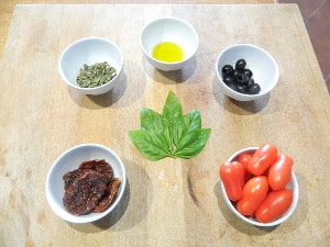 ingredienti per il mio pesto