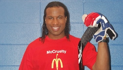 georges laraque hockey vegano