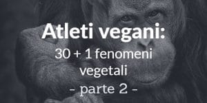 Atleti vegani: 30 + 1 fenomeni vegetali - parte 2