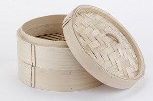 cestello in bamboo per cottura al vapore 25 cm