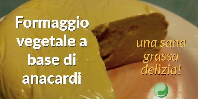 Formaggio vegetale a base di anacardi: una sana grassa delizia