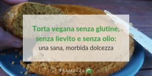 torta vegana, senza glutine, senza lievito e senza olio