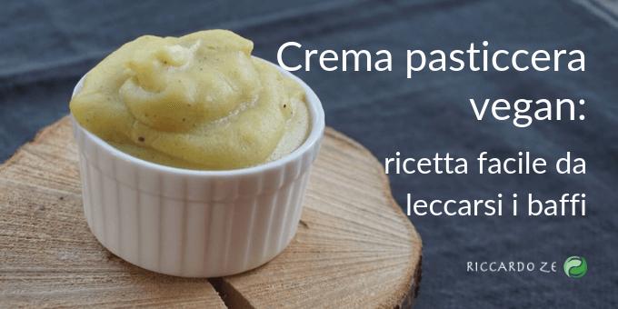 Crema pasticcera vegan: ricetta facile